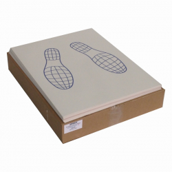 """Коврики двухслойные """"Следы ног"""", книжные, 405х525 (0.2) 500 шт"""