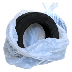 Мешки для колес ПНД, 1100х(700+400)мм, 15 мкм, без печати (рулон 100 шт.)