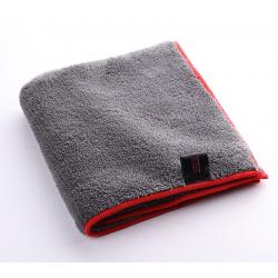 SGCB Microfiber Plush Towel - микрофибра с оверлоком для полировки 40*40см 600 г/м2  серая