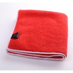 SGCB Microfiber Plush Towel - микрофибра оверлоченная для полировки 40*40см 600 г/м2 красная