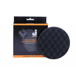 JETA PRO Полировальный диск, мягкий ребристый черный 150*25 мм