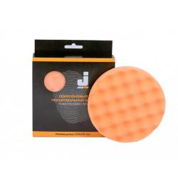 MENZERNA Полировальный диск полутвердый, ребристый,оранжевый 150*25 мм