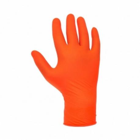 """JETA PRO Перчатки нитриловые высокопрочные, размер """"S"""", цвет оранжевый 100 шт"""