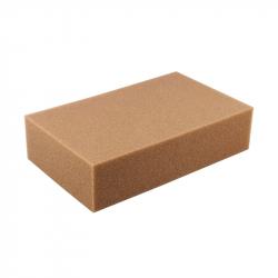 Губка для мойки порогов коричневая 200*125*45мм