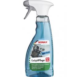 SONAX Cocpit Spray - Очиститель-полироль для пластика матовая (активная свежесть), 500мл