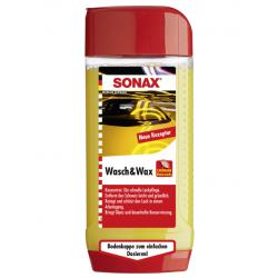 SONAX Wash & Wax - Автошампунь-концентрат с воском, 500мл