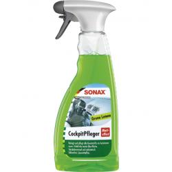 SONAX Cockpit Spray - Очиститель-полироль для пластика матовый (лимон), 500мл