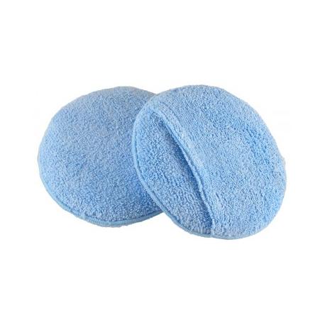 Аппликатор круглый микрофибровый для нанесения составов, голубой