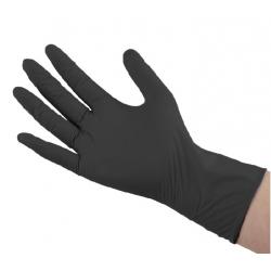 """SGCB Перчатки нитриловые высокопрочные, размер """"L"""", цвет черный, 100 шт"""