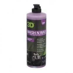 3D Wash N Wax  - РH-сбалансированный шампунь с воском 2 в 1 для кузовӑ, 480мл.