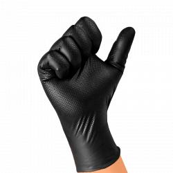 """JETA PRO Natrix Перчатки нитриловые высокопрочные, размер """"M"""", цвет черный 50 шт"""