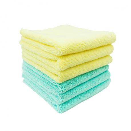 PURESTAR Two Face Edge Less Buffing Towel - Разноворсовое полотенце, 32*32см, 320 г/м2 (6шт/уп.)
