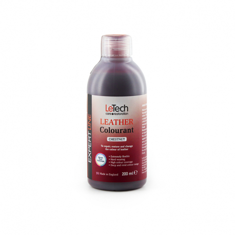 LeTech Expert Line Leather Colourant Chestnut (200ml) - Краска для кожи Каштановый
