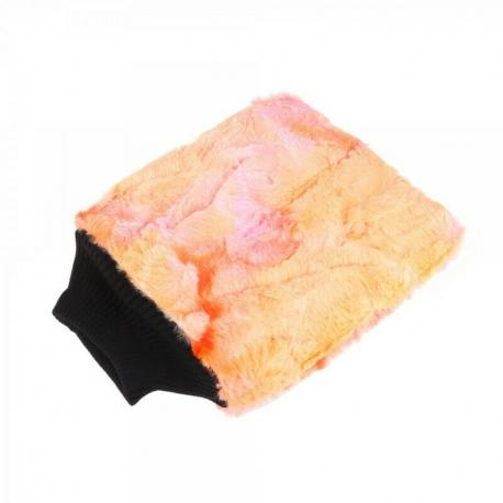 PURESTAR Color-Pop Wash Mitt - Плюшевая особомягкая рукавица для мойки, оранжевая, 20*25см., 400г/м2