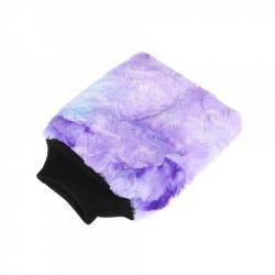 PURESTAR Color-Pop Wash Mitt - Плюшевая особомягкая рукавица для мойки, пурпурная, 20*25см., 400г/м2