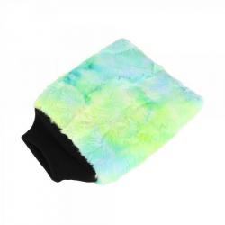 PURESTAR Color-Pop Wash Mitt - Плюшевая особомягкая рукавица для мойки, зеленая, 20*25см., 400г/м2