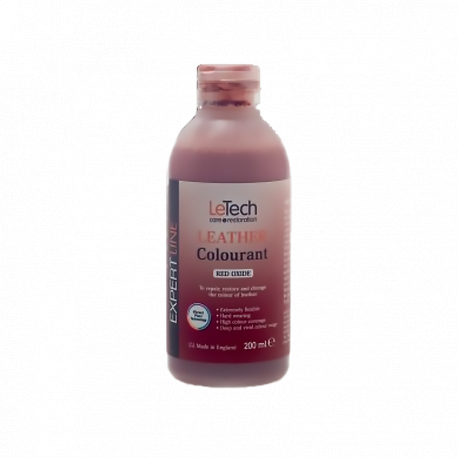LeTech Furniture Clinic Expert Line Leather Colourant RedOxide - Краска для кожи Красный Оксид 200мл