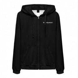 Shine Systems Толстовка черная с логотипом на молнии размер XXL
