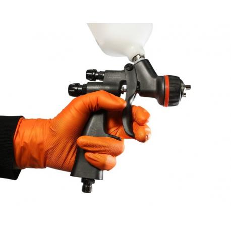 """JETA PRO Natrix Перчатки нитриловые высокопрочные, размер """"L"""", цвет оранжевый 50 шт"""