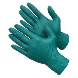 """GWARD Indy Touch Перчатки нитриловые усиленные, размер """"L"""", цвет зеленый 100 шт"""