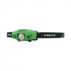 UNILITE Спортивный налобный фонарь (зеленый корпус),  175 Lm, 1xAA, IPX6