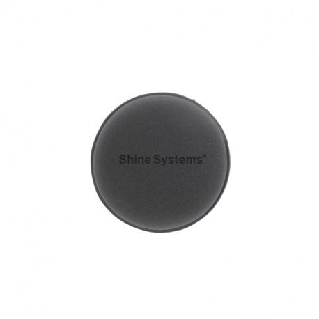 Shine Systems Wax Pad - Аппликатор черный поролоновый круглый 10*2 см