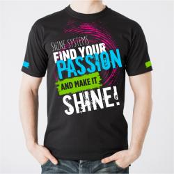 "Shine Systems Футболка черная ""Find Your Passion"" L"